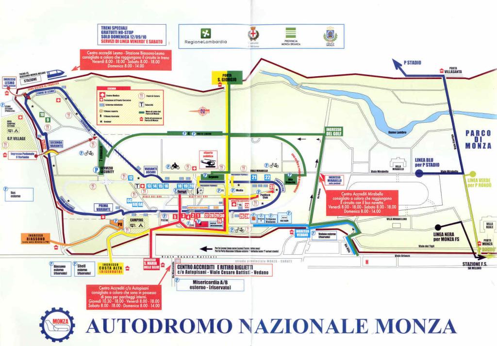 MappaAutodromodiMonza